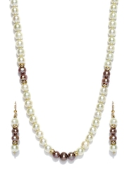 Ahaana Off-White Pearl Jewellery Set