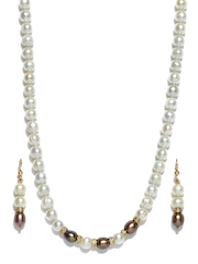 Ahaana White Pearl Jewellery Set