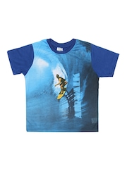 Airwalk Boys Blue Printed T-Shirt