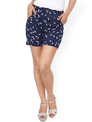 Alba Navy Printed Shorts