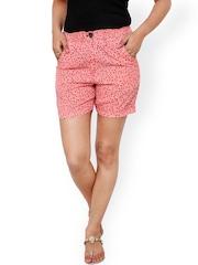 Alba Pink Printed Shorts
