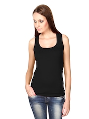 Alba Women Black Tank Top