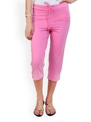 Alba Women Pink Capris