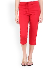 Alba Women Red Capris