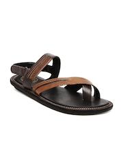 Alberto Torresi Men Brown Leather Sandals