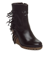 Alberto Torresi Women Dark Brown Leather Boots