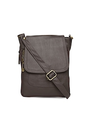 Alessia74 Women Brown Sling Bag