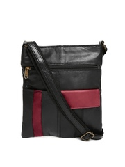 Alessio69 Black Leather Sling Bag