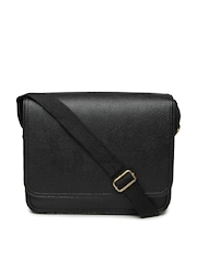 Alessio69 Men Black Messenger Bag
