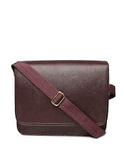 Alessio69 Men Maroon Messenger Bag