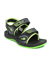 Men Black Sports Sandals Alive 454991