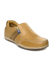 Allen Cooper Men Brown Leather Casual Shoes
