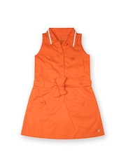 Allen Solly Junior Girls Orange Shirt Dress