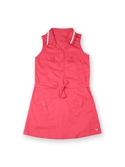 Allen Solly Junior Girls Pink Shirt Dress