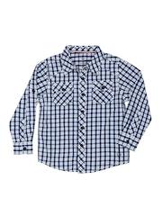 Allen Solly Kids Boys Blue & White Checked Shirt