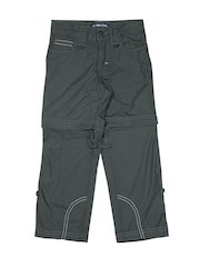 Allen Solly Kids Boys Dark Grey Convertible Cargo Trousers