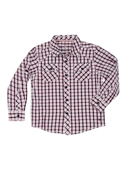 Allen Solly Kids Boys Red & White Checked Shirt