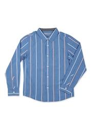 Allen Solly Kids Boys Blue Striped Shirt