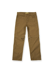 Allen Solly Junior Boys Brown Convertible Cargo Trousers