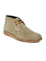 Allen Solly Men Beige Suede Casual Shoes