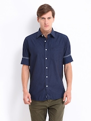 Allen Solly Men Blue & Black Checked Sport Fit Casual Shirt