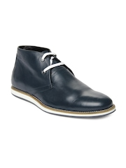 Allen Solly Men Blue Leather Casual Shoes