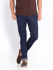 Allen Solly Men Blue Smart Fit Trousers