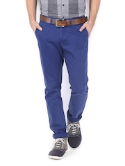 Allen Solly Men Blue Smart Slim Fit Chino Trousers
