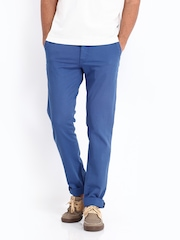 Allen Solly Men Blue Trenim Fit Chino Trousers