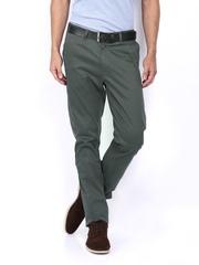 Allen Solly Men Charcoal Grey Ultra Slim Fit Trousers