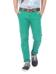 Allen Solly Men Green Trenim Fit Chino Trousers