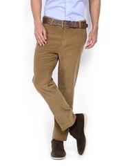 Allen Solly Men Khaki Custom Slim Fit Corduroy Trousers