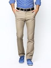 Allen Solly Men Khaki Custom Slim Fit Chino Trousers