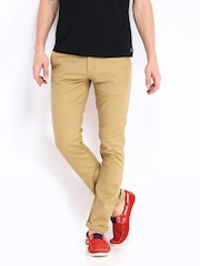 Allen Solly Men Khaki Smart Fit Chino Trousers