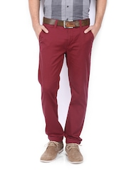 Allen Solly Men Maroon Trenim Fit Chino Trousers