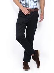 Allen Solly Men Navy Custom Slim Fit Trousers