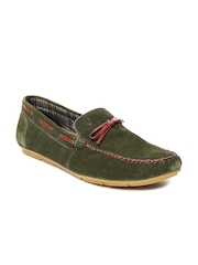 Allen Solly Men Olive Green Suede Loafers
