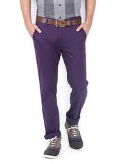 Allen Solly Men Purple Trenim Fit Chino Trousers