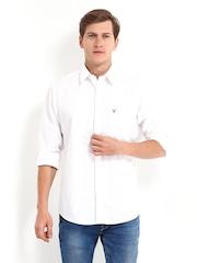 Allen Solly Men White Sport Fit Casual Shirt