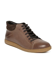 Allen Solly Men Tan Brown Leather Casual Shoes