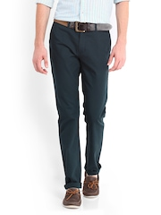Allen Solly Men Teal Green Smart Fit Chino Trousers