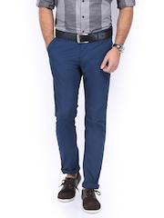 Allen Solly Men Blue Trenim Fit Chino Trousers