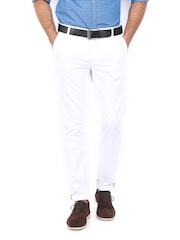 Allen Solly Men White Trenim Fit Chino Trousers