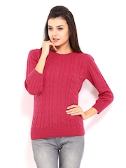Allen Solly Woman Pink Sweater