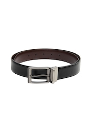 Alvaro Castagnino Men Black & Brown Reversible Leather Belt