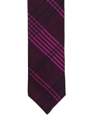 Alvaro Castagnino Purple Checked Tie