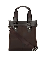 Alvaro Castagnino Unisex Brown Laptop Bag