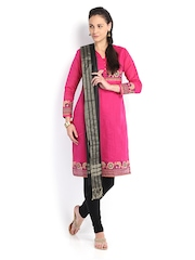 Amare Women Black Cotton Silk Dupatta