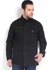American Bull Men Black Denim Jacket