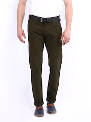 American Bull Men Brown Slim Fit Trousers